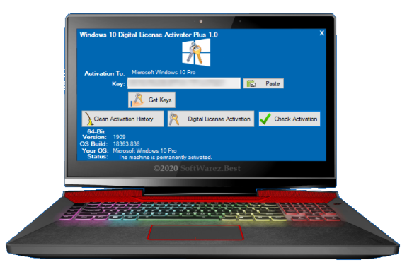 Windows 10 Digital License Activator Plus