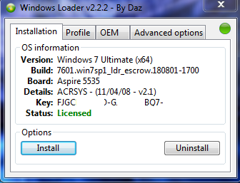 Windows 7 Loader Permanent Activator
