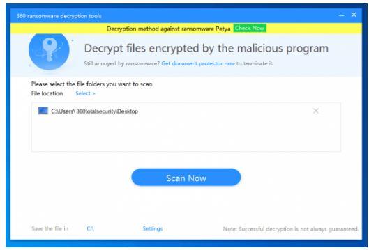 360 Ransomware Decryption Tool