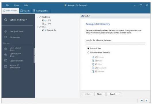 Auslogics File Recovery Pro Portable