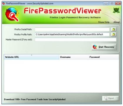 Firefox Password Viewer