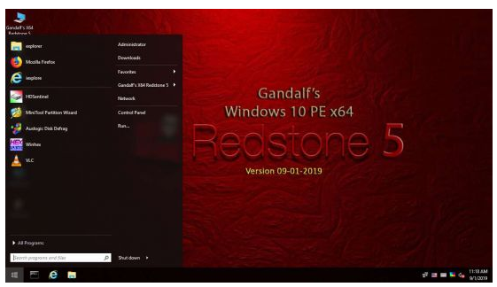 Gandalf's Windows 10 PE