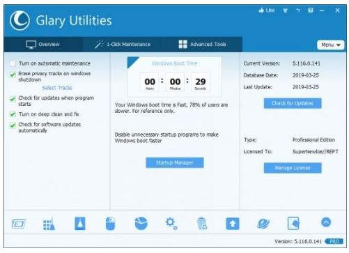 Glary Utilities Pro 5.159.0.185 Crack +Free Key Latest Version Download 2021