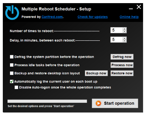 Multiple Reboot Scheduler