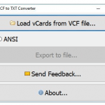 VovSoft VCF to TXT Converter 1.4 Portable [Latest]