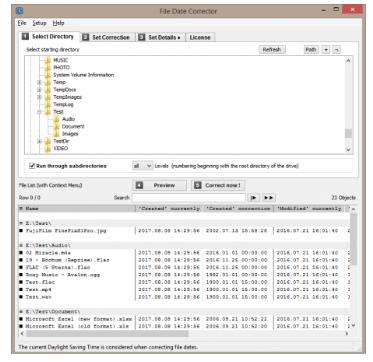 Infonautics File Date Corrector