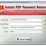 Instant PDF Password Remover 9.0 [Latest]
