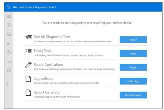 Microsoft Surface Diagnostic Toolkit