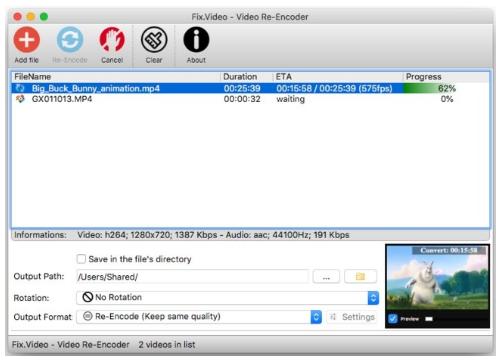 Video Re-Encoder