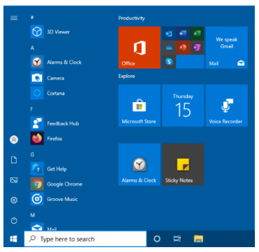 Backup Start Menu Layout
