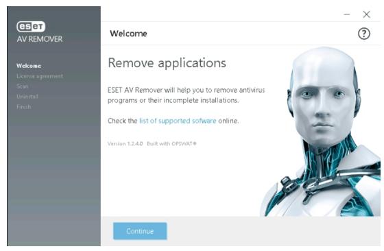 ESET Anti Virus Remover Tool