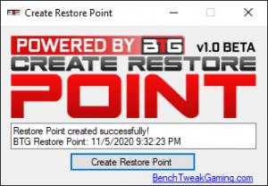 Create Restore Point