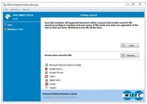 MiTeC Internet History Browser