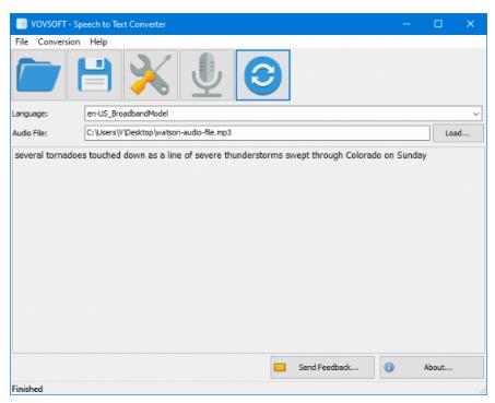 Vovsoft Speech to Text Converter