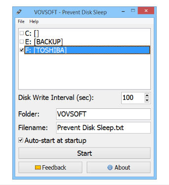 VovSoft Prevent Disk Sleep