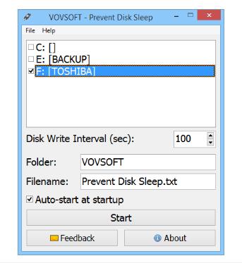VovSoft Prevent Disk Sleep