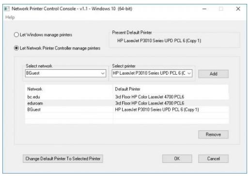 Network Printer Control
