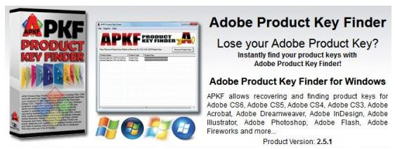 APKF Adobe Product Key Finder