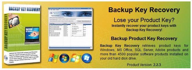 Nsasoft Backup Key Recovery