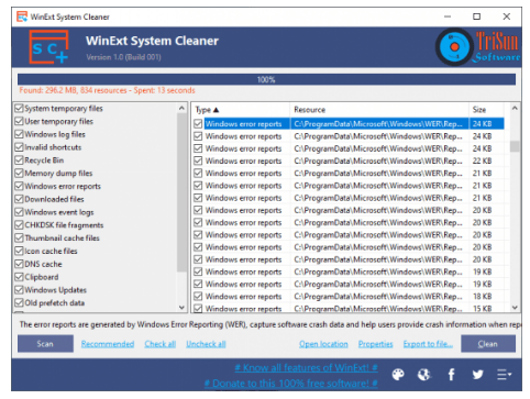 WinExt System Cleaner